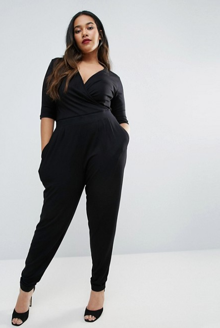 2017-08-21 17_14_56-ASOS Curve _ ASOS CURVE Wrap Jumpsuit with 3_4 Sleeve