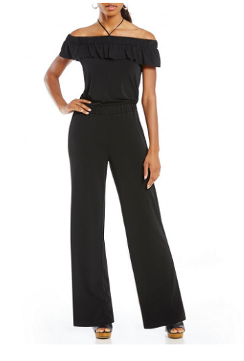 Jones New York Off-The-Shoulder Knit Crepe Jumpsuit _ Dillards