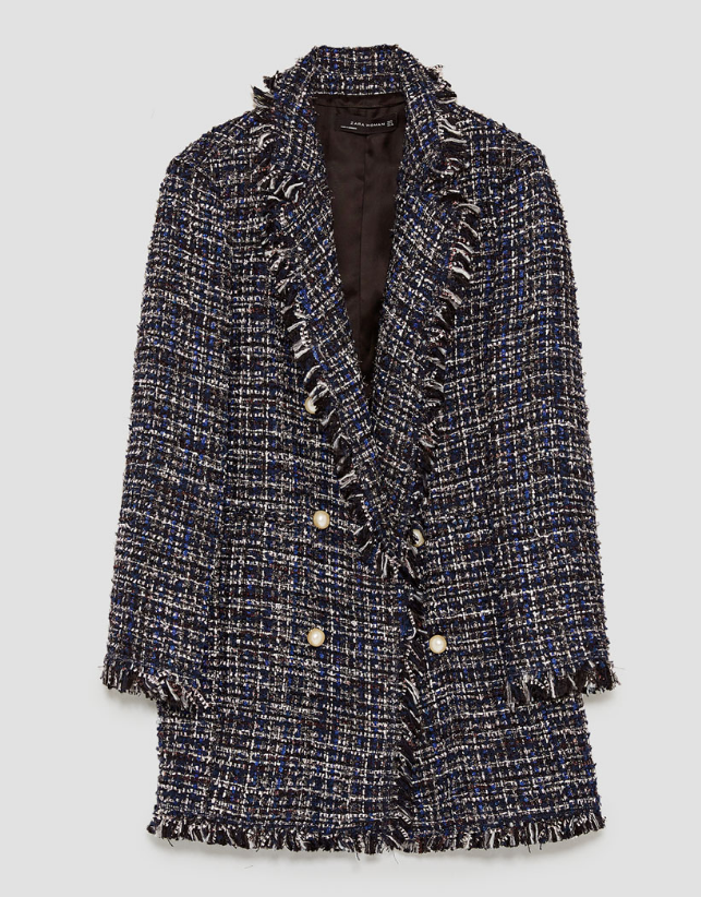 Zara Long Tweed Jacket